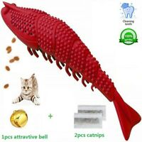 Red Cat Catnip Chew Toy,Cat Toothbrush,IQ interactive,Lobster Shape Interactive