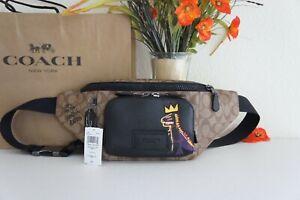 NWT Coach C5422 X Jean-Michel Basquiat Track Belt Bag Signature Canvas &Leather