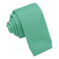 Tiffany Green Boys Tie Knit Knitted Plain Formal Casual Children Necktie by DQT