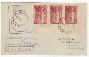 1927 Jun 30th. First Flight Cover. Cloncurry to Normanton. AAMC 106.