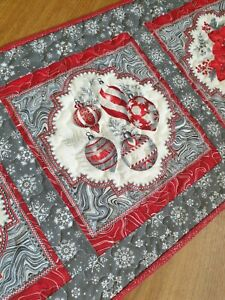 """Handmade Christmas Patchwork Quilted Table Runner -38.5"""" x 16"""""""