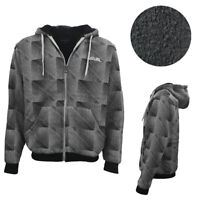 Men's Thick Sports Zip Up Hoodie w Winter Sherpa Fur Jumper Coat Bomber Jacket