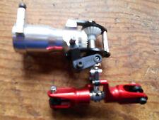 TREX 550 in lega assieme scatola ingranaggi del rotore di coda C/W rosso lega Lama Grips