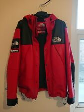 Supreme x The North Face Leather Mountain Parka Red Medium
