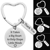 3Pcs Festival Gift Keychain Set for Teachers Thank You Birthday Christmas Gifts