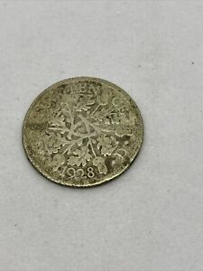 1928 Silver (.500) sixpence six pence 6d coin George V