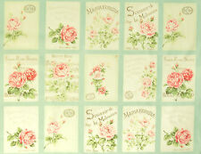 Pachworkstoff Rose for you sostanze ROSE romanticismo 27 immagini Bleu CREMA Patch BW