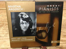 Martha Argerich CD Oct-1998 2 Discs Philips 028945670027 Great Pianists Cardboar