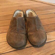 UGG Suede Clogs Shoes Size 7 Tan BROWN