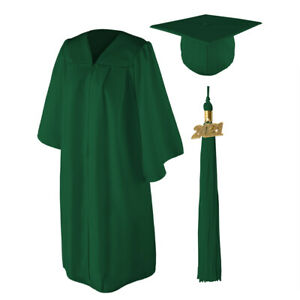 SHINY Graduation Cap Gown and 2021 Tassel Best Quality Lowest Price