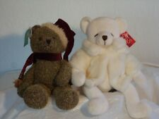 Vintage two lovely Plush bears by Russ Berrie & Co. with tags