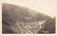 Idaho Id Real Photo RPPC Postcard c1915 WALLACE Birdseye View Mountains 1