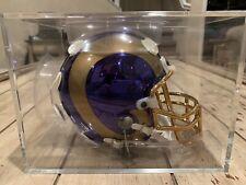 *Rare Limited Edition* St. Louis Rams 24kt Chrome Riddell Mini Helmet /2000 La