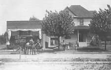 RP Postcard Harmon & Long Grocery Store Horse Pulled Delivery Wagon Ohio~107940