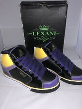 Men's Lexani Lifestyle LMS005 Purple/Black/Gold Yellow, High Top, Size 11.5