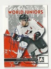 2007 ITG Autographed Hockey Card Kris Russell Team Canada