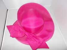 Whiteley UK Hot Pink Fuschia Wedding Races Hat Wide Brim Fascinator Bow  Detail 0d51f356b54