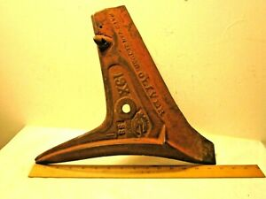 Vintage/ Antique Works Plow OLIVER Pat. - Jan. 21- 1908,19X - SS Red
