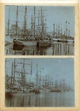 France, Bretagne, Les bateaux transporteurs dans le port, ca.1900, vintage citra