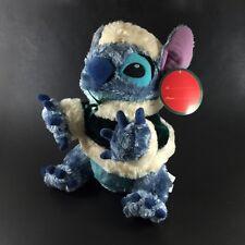 "Lilo and Stitch Plush Stuffed Animal Toy Disney Store Christmas 11"" Traditions"