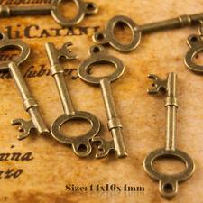 5 Stile Antico Vintage Bronzo Ciondolo Ciondoli Chiave 016