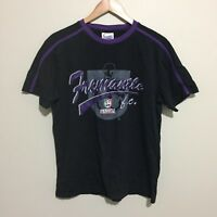 Fremantle Dockers Vintage Logo Graphic AFL Football T-Shirt Black Mens Small