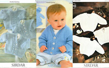 """3 BABY TODDLER SIRDAR SNUGGLY KNITTING PATTERNS CARDIGANS SWEATERS 16 - 26""""  C"""