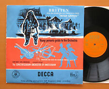 LXT 2886 O/G Britten Four Sea Interludes Young Person's Guide Van Beinum EX/EX