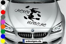 WD Autoaufkleber HEXE HEXENKUTSCHE FLEDERMAUS Tuning Aufkleber Motorhaube Spruch