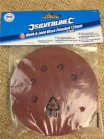 CLEARANCE LINE S52 10 HOOK AND LOOP 125 mm ROUND SANDING DISCS PUNCHED 180 GRIT