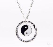 Kreis Yin Yang Liebe Traum Hoffnung Spruch Tai Chi Unisex Anhänger Halskette