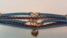 Infinity Multi layer Sister Wrap Bracelet Sisters Always Friends Forever  Leaf