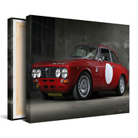 Red Sports Car Framed Canvas Picture - Wall Art Print