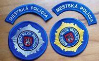 2 SLOVAKIA PATCH POLICE BRATISLAVA CAPITAL - ORIGINAL