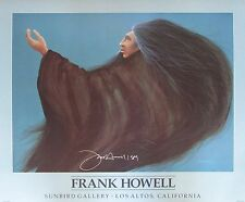 Signed Frank Howell Litho Poster Sunbird Gallery Los Altos California 1989