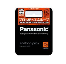 4 Panasonic Eneloop Pro Rechargeable Batteries Free Ship w/Tracking# New Japan