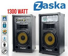 COPPIA CASSE AMPLIFICATE 1300 W USB BLUETOOTH KARAOKE DJ EXTREME SOUND SD MP3 HD