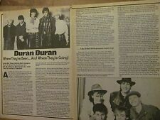 Duran Duran, Two Page Vintage Clipping