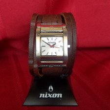 """Nixon """"The Boss"""" (Brown) 50M 3-Hand Japanese Movement w/  Strap Band [5H]"""