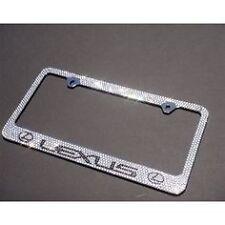 Lexus Made with SWAROVSKI Crystal Chrome license plate frame Crystal Screw Caps