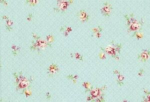 Cottage Shabby Chic Lecien Rococo & Sweet Small Floral 31863L-70 Sky BTY