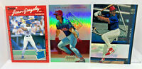 Juan Gonzalez - 3 Card ROOKIE Lot 1990 Donruss, Upper Deck SP & Bowman Best