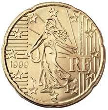 20 centimes d'Euro France - Année 1999 - Première frappe de l'Euro - Très rare