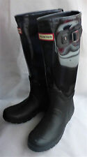 Hunter Original Clear Leg Midnight Blue Wellingtons Wellies Festival Ladies Sz 3