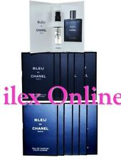 12 x BLEU DE CHANEL EAU DE PARFUM POUR HOMME SPRAY VIALS/MINIATURES 2ml EACH