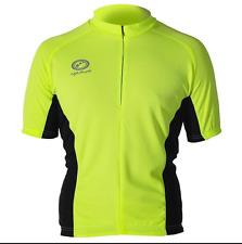 OPTIMUM Nitebrite A Maniche Corte Da Uomo Ciclismo Jersey Top S FLOU giallo-Nuovo con Etichetta