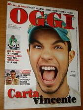 OGGI 2009/10=MARCO CARTA FESTIVAL DI SANREMO=MATTEO MARZOTTO=CATERINA BALIVO=