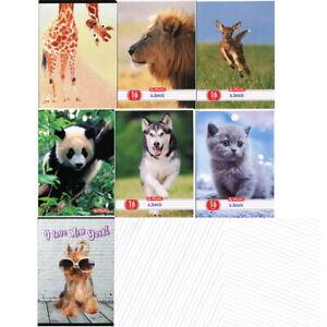 Animals - Handwriting exercise book 3-lined, 16 page. Zeszyt w 3 linie Zwierzeta