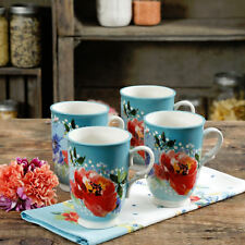 The Pioneer Woman 18 Oz. Cup Melody Stoneware  Set Of 4  New Spring 2018