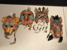 Hamilton Collection Spirit Of Power Vision Freedom Peace Totem Ceremonial Masks
